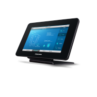 Crestron automation system wireless touchscreen