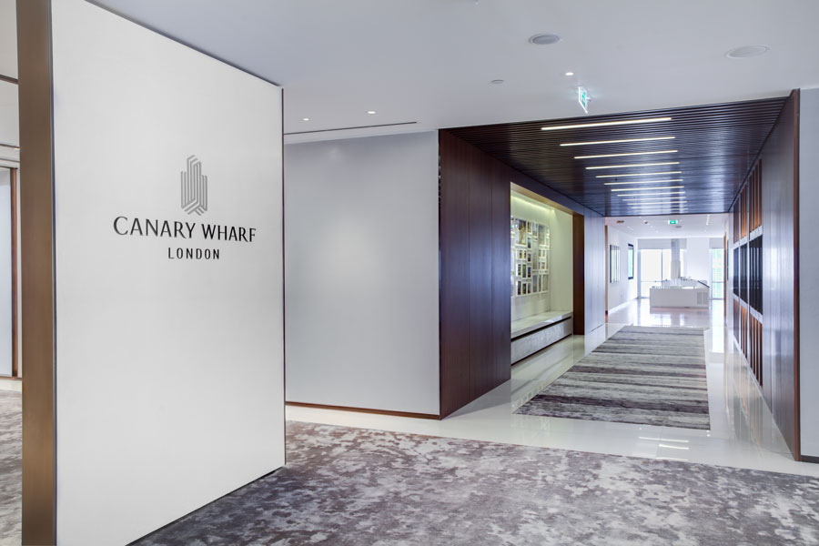 Entrance in Marketing Suite for Canary Wharf Group