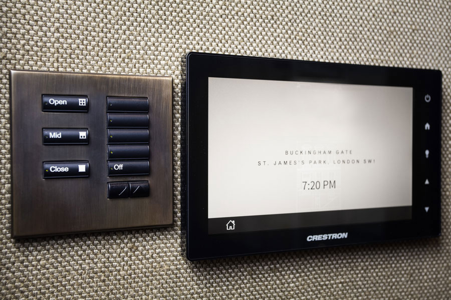 Crestron control in Town House, Central London
