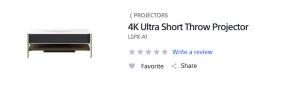 4K ultra short throw projector