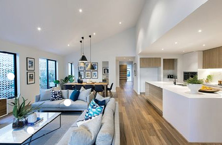 open plan kitchen utilising open plan living home automation