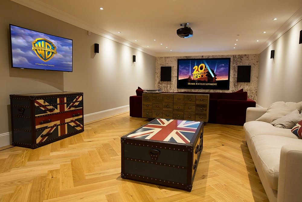 Renovating without disruption - home cinema