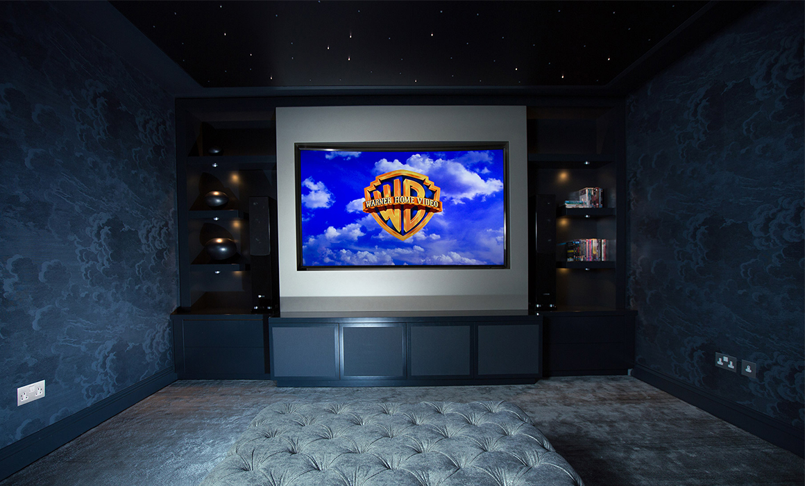 attic home cinema